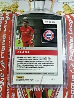 2019 Obsidian David Alaba Cutting Edge Jersey Card #/5 MATCH WORN Bayern Munich