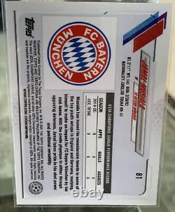 2020-21 Topps Chrome Jamal Musiala Orange Bubbles Refractor SSP RC UCL Bayern