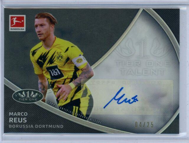 2020-21 Topps Tier One Talent Auto Marco Reus #04/25 Borussia Dortmund Bvb