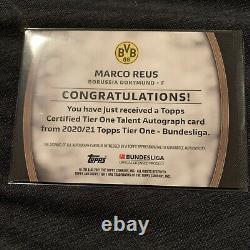 2020-21 Topps Tier One Talent Auto Marco Reus #22/25 Borussia Dortmund BVB Rare