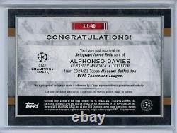 2020-21 Topps UEFA Museum Auto Jersey Alphonso Davies #01/50 Bayern Munich