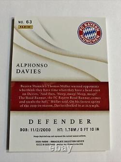 2020 Panini Immaculate ALPHONSO DAVIES Base 27/50 Bayern Munich