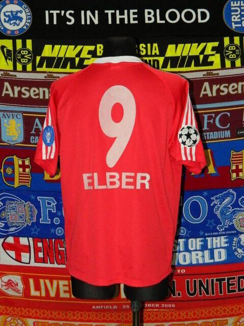 4.5/5 Bayern Munich Adults L/xl #9 Elber 1999 Original Cup Football Shirt Jersey