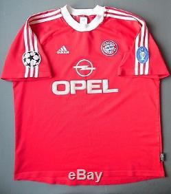 4/5 Bayern Munich #11 EFFENBERG 2001 CUP ORIGINAL JERSEY football shirt ADIDAS