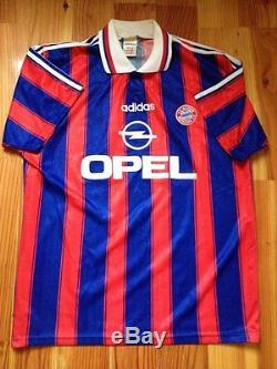 4.6/5 Bayern Munich 1995 1997 Autograph Original Football Shirt Jersey Adidas