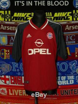 5/5 Bayern Munich adults XL/XXL #14 Pizarro 2001 MINT football shirt jersey