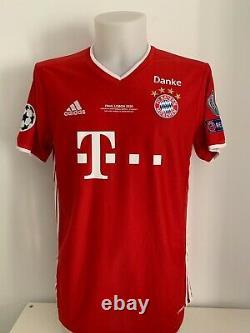 9 Lewandowski shirt signed autographs Bayern Munchen final soccer jersey COA