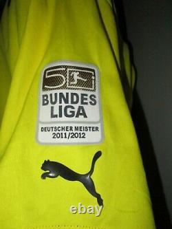 #9 Match Worn Bvb Germany 2011 2012 Home Shirt Trikot Bayern Munich =lewandowski