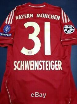 ADIDAS BAYERN MUNCHEN MUNICH CHAMPIONS FINAL 2012 Schweinsteiger ORIGINAL JERSEY