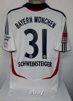 ADIDAS BAYERN MUNICH MUNCHEN AWAY 2006 Schweinsteiger L ORIGINAL JERSEY SHIRT