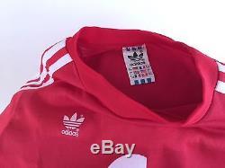 ADIDAS G63 Vtg FC Bayern Munchen L/S Soccer Futbol Trikot Commodore Jersey Sz L