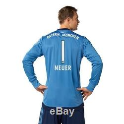 Adidas Manuel Neuer Bayern Munich Home Goalkeeper Jersey 2015/16