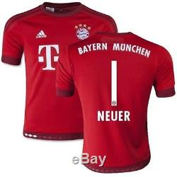 Adidas Manuel Neuer Bayern Munich Home Jersey 2015/16