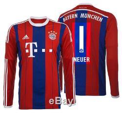 Adidas Manuel Neuer Bayern Munich Long Sleeve Home Jersey 2014/15