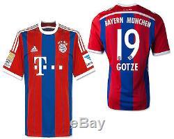 Adidas Mario Gotze Bayern Munich Home Jersey 2014/15