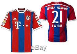 Adidas Philipp Lahm Bayern Munich Home Jersey 2014/15