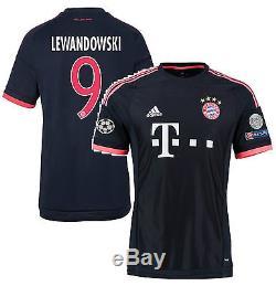 Adidas R. Lewandowski Bayern Munich Uefa Champions League Third Jersey 2015/16