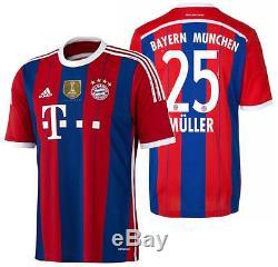 Adidas Thomas Muller Bayern Munich Home Jersey 2014/15 Fifa Cwc ...