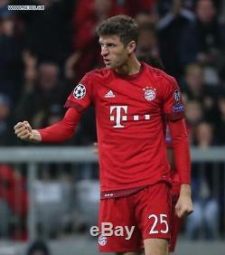 Adidas Thomas Muller Bayern Munich Uefa Champions League Home Jersey 2015/16