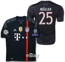 Adidas Thomas Muller Bayern Munich Uefa Champions League Third Jersey 2014/15