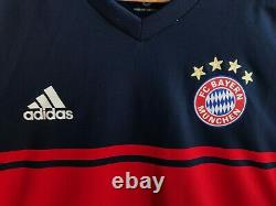 AUTHENTIC Bayern Munich 2017/2018 Away Sz M Adidas football shirt jersey soccer