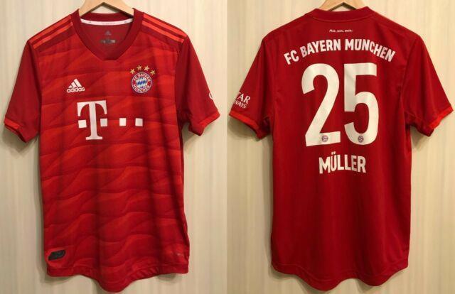 Authentic Bayern Munich #25 Muller 2019/2020 Home Size M Shirt Jersey Football