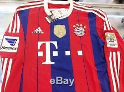 Adidas 2014/15 Bayern Munich Long Sleeve Home Jersey With Winner Patch Sopnser
