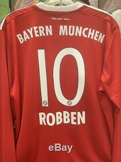 Adidas 2017/18 ROBBEN 10 Bayern Munich Home Large LongSleeve Soccer NEW NWT