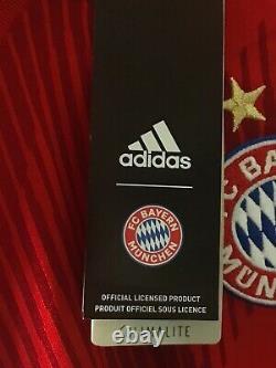 Adidas 2018/19 Bayern Munich L. S. Home Stadium Jersey Red White Men Size L