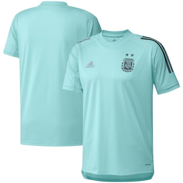 Adidas Argentina 2020 Copa America Prematch Training Soccer Jersey Teal Blue
