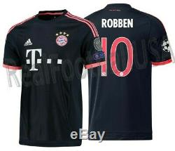 Adidas Arjen Robben Bayern Munich Uefa Champions League Third Jersey 2015/16