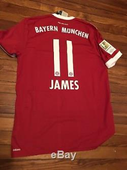 6b2aa7c19 Adidas Authentic Size Large James Rodriguez Home Red 17 18 Bayern Munich  Jersey
