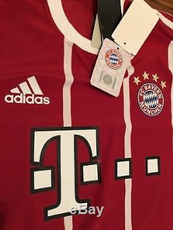 Adidas Authentic Size Large James Rodriguez Home Red 17/18 Bayern Munich Jersey