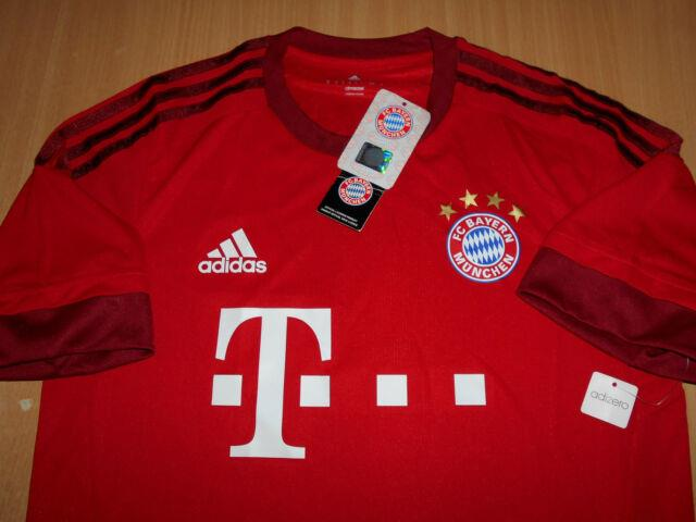 Adidas Authentic Soccer Bayern Munich 2015-16 Jersey Player Home M Last