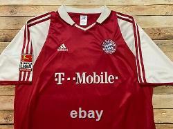 Adidas BAYERN MUNICH Jersey CLAUDIO PIZARRO Vtg 2003-2004 Rare Germany Soccer XL