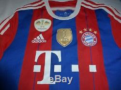 Adidas Bayer Munich Player Issue Home Jersey 2014-15, Pokal Finale 2014 Vs Dortm