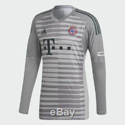 Adidas Bayern Munchen 2018-19 Men Goalkeeper Football Soccer Shirt Jersey DQ0704