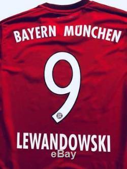 Adidas Bayern Munchen Lewandowski Home Jersey S14294 Medium