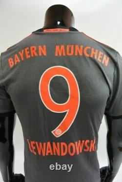 Adidas Bayern München Munich 2016-2017 Away Jersey Shirt LEWANDOWSKI SIZE S