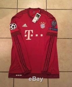 Adidas Bayern Munich 15/16 Adizero Long Sleeve Home Player Issue Adizero Size 7