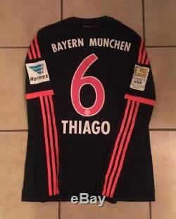 Adidas Bayern Munich 15/16 LS Third Jersey Match Issue Adizero Size 7