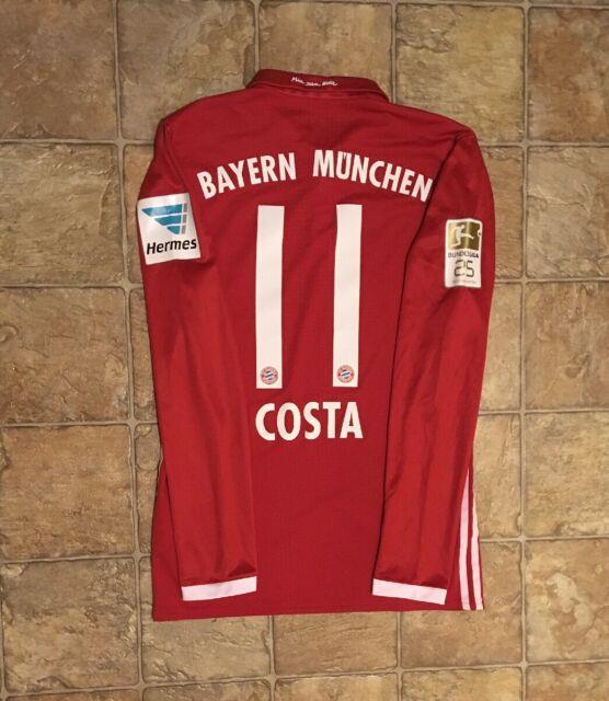 Adidas Bayern Munich 16/17 Home Long Sleeve Jersey Match Issued Adizero