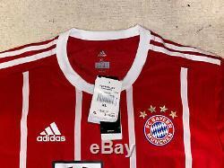 Adidas Bayern Munich 17/18 Home Authentic Adizero Jersey, Shirt, Size XL