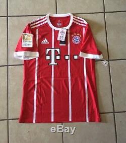 30edc4751 Adidas Bayern Munich 17 18 Player Issue Home Adizero Jersey Lewandowski 9  Size M