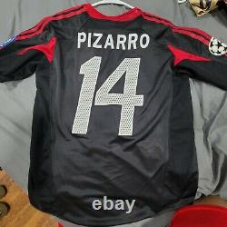 Adidas Bayern Munich 2004 2005 Claudio Pizarro Boys XL UCL Soccer Jersey Trikot
