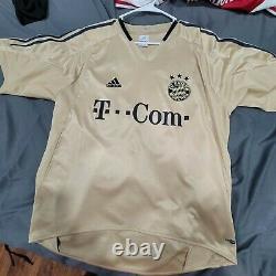 Adidas Bayern Munich 2004 2005 Claudio Pizarro Mens L Away Soccer Jersey Trikot