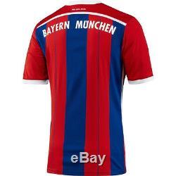 Adidas Bayern Munich 2014-2015 Home Soccer Jersey Brand New Red / Royal