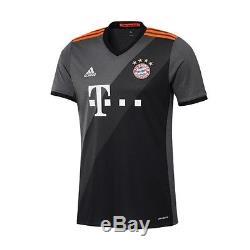 Adidas Bayern Munich 2016 2017 Away Soccer Jersey Brand New Gray