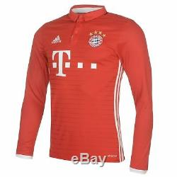 Adidas Bayern Munich 2016 Home Jersey Mens Red/White Football Soccer Shirt Top