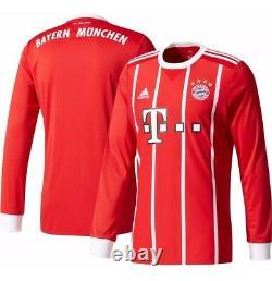 Adidas Bayern Munich 2017 Long Sleeve Home Jersey(AZ7959) $100